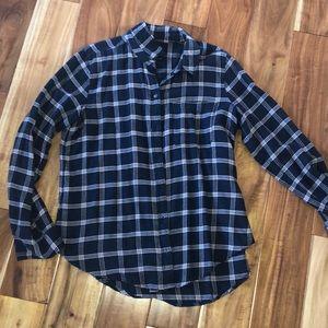 Abercrombie & Fitch Flannel Blue